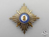 Saxony. A 1914-1918 Albrecht Order Commander's Cross Breast Star with Swords
