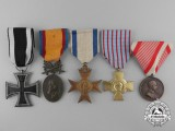 Five First War Medals, Awards, & Decorations