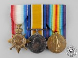 Great Britain. A First War Trio to Private Ernest Upfold, Royal Army Medical Corps