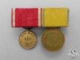 A Prussia/Baden Landwehr Medal Bar