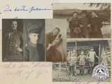 Five First War Imperial German Airmen Postcards