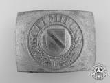 A Third Reich Rheinland Police Enlisted Man's Belt Buckle