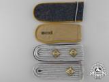 Four Luftwaffe Shoulder Straps & Boards