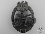 A Silver Grade Tank Assault Badge; for Twenty-Five Engagements