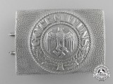 A 1937 Pattern Army (Heer) Enlisted Man's Belt Buckle by Overhoff & Cie, Ludenscheid