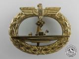 A Kriegsmarine Submarine War Badge by W. Deumer