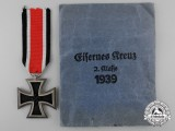 A Mint Conditioned Iron Cross 2nd Class 1939 with Packet by Eugen Gauss