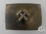 A Third Reich Miner's Belt Buckle