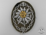 A German Army Officer's Edelweiss Badge