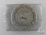 A Westfalen Fire Defence Service Enlisted Man's Belt Buckle; Published