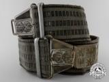 A Second War Czechoslovakian Army Officer's Brocade Belt with Buckle