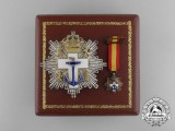A Spanish Order of Naval Merit, 2nd Class Breast Star with White Distinction, Miniature and Case