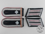 An Army Panzer Oberfeldwebel's Shoulder Boards and Tabs