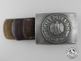 An Army (Heer) Enlisted Man's Belt Buckle by J.C. MAEDICKE BERLIN 1941