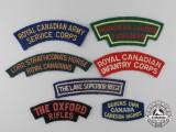 Seven Second War Canadian Shoulder Flashes