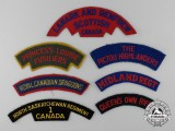 Seven Second War Period Canadian Shoulder Flashes