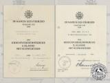 Two War Merit Cross Second Class Award Documents