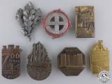 Seven Second War German Badges and Tinnies