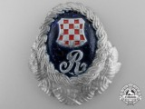 A Second War Croatian Police Guardsmen Cap Badge