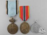 Three Romanian Commemorative Medals