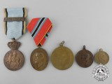 Five Romanian Medals & Awards
