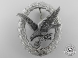 A Rare Aluminum Luftwaffe Radio Operator & Air Gunner Badge by Assmann