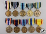 Ten American Military Service Medals