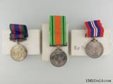 Three Canadian Second War Campaign Medals