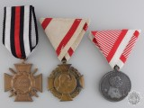 Three First War German and Austrian Medals