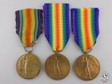 Three First War British Victory Medals