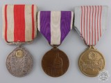 Three Japanese Medals and Awards