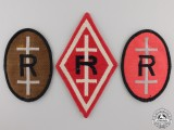 Three Second War Free French Resistance Embroidered Patches