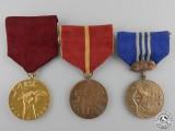 Three Socialist Czechoslovakia Medals & Awards