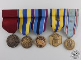 Two American Miniature Medal Groups