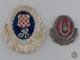 Two Second War Period Croatian Cap Badges