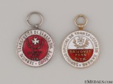 Two Spanish Red Cross Miniature Medals