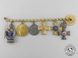 A Fine First War Miniature Award & Decoration Group of Six by J. Godet