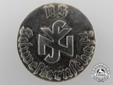 A Solid Silver German Nurse's Badge