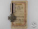 A German Imperial Naval Corps Flanders Cross with Military Pass