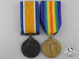 A First War Medal Pair to the West Yorkshire Regiment