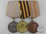 A Soviet Russian Second War Three Piece Medal Group