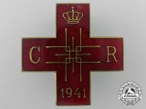 A Romanian Red Cross Merit Decoration Badge 1941