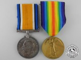 A First War Medal Pair to 1st Class Air Mechanic R. Picken; Royal Air Force