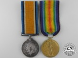 A First War British Medal Pair to the Leicestershire Regiment