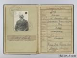 Wehrpass of Heinrich Stolz; First War Veteran; Merit Cross Recipient