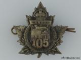 "WWI 105th Infantry Battalion ""P.E.I. Highlanders"" Cap Badge CEF"