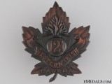 WWI 121st Infantry Battalion Cap Badge CEF
