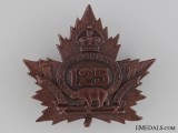 WWI 125th Infantry Battalion Cap Badge CEF