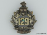 "WWI 129th Infantry Battalion ""Wentworth Battalion"" Cap Badge"