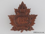WWI 132nd Infantry Battalion Cap Badge CEF